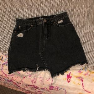 Urban Outfitters black jean skirt (BDG)
